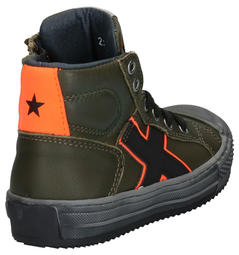 Little David Maxim Kaki Sneakers in leer (261378)