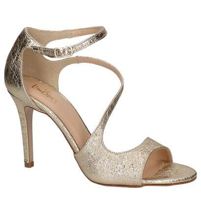 Via Limone Gouden Sandalen High Heels in leer (220725)