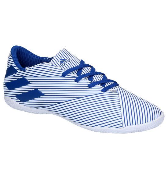 adidas Nemiziz 19.4 Chaussures de Foot en Blanc/Bleu