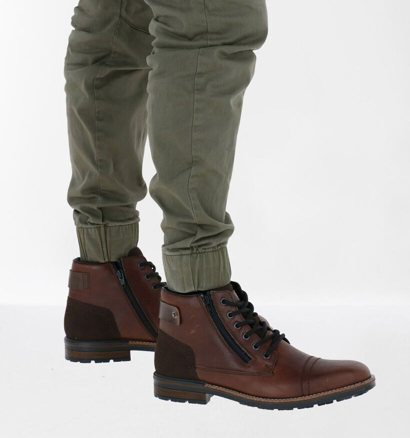 Rieker Bruine Boots in leer (260558)