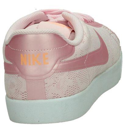 Nike Baskets basses en Rose clair en simili cuir (198255)