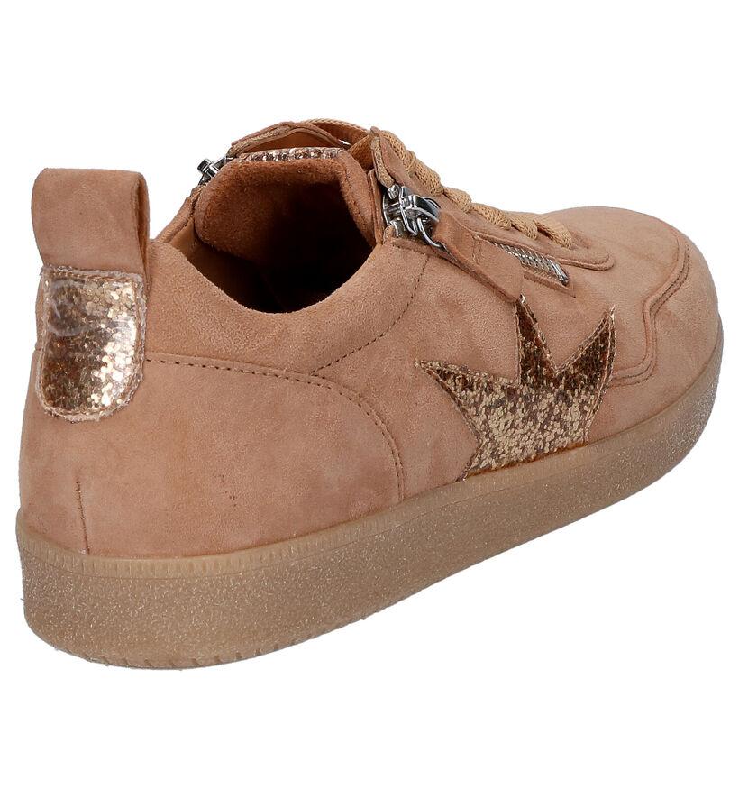 Gabor Best Fitting Cognac Sneakers in daim (271715)