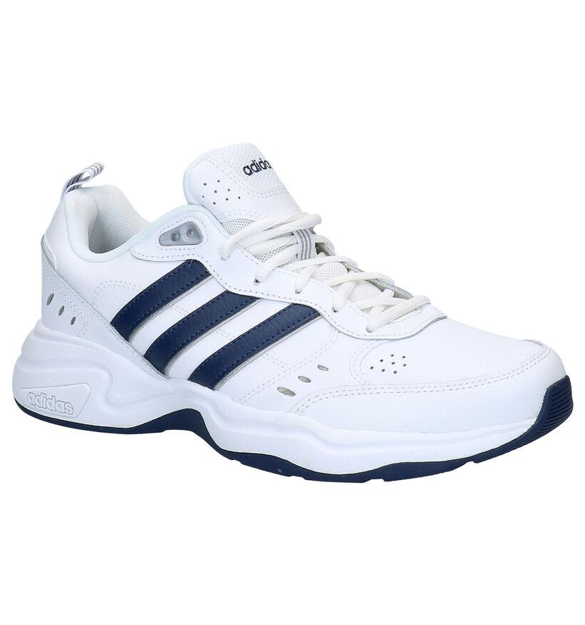 adidas Strutter Witte Sneakers in kunstleer (276469)