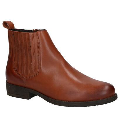 River Woods Samira Cognac Boots in leer (260292)