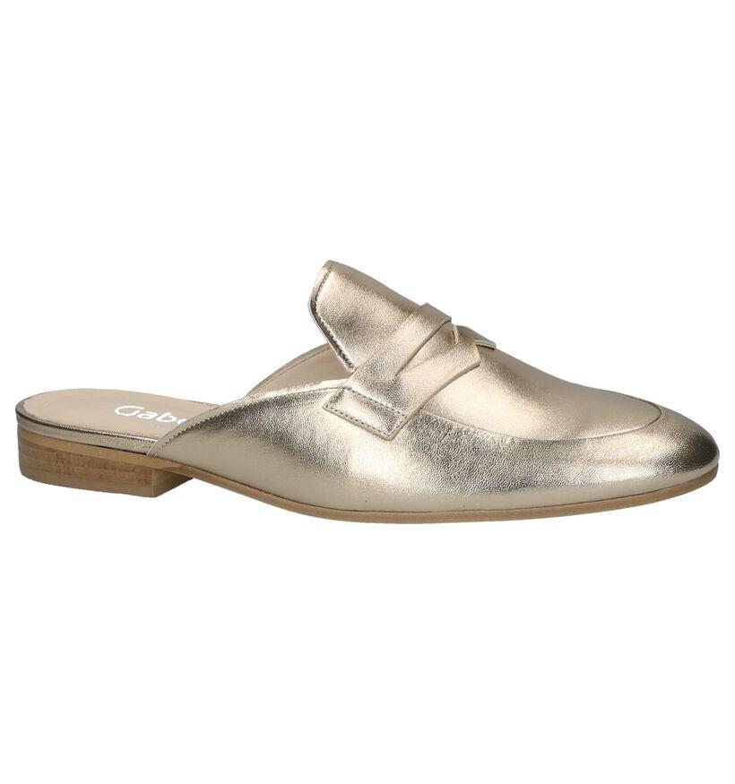 Gabor Nu-pieds à talons en Or en cuir (216323)