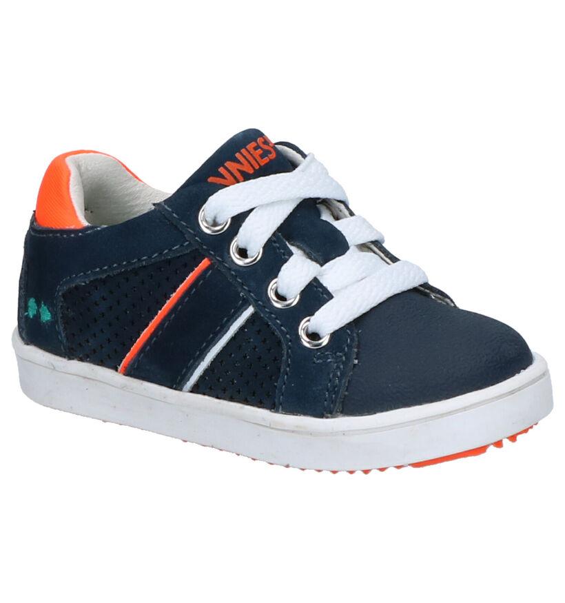 Bunnies Pjotr Pit Chaussures en Bleu en cuir (275282)