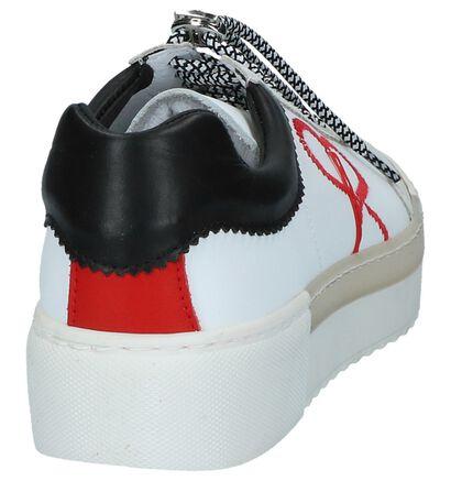 Bronx Witte Sneakers met Dikke Zolen in leer (223874)