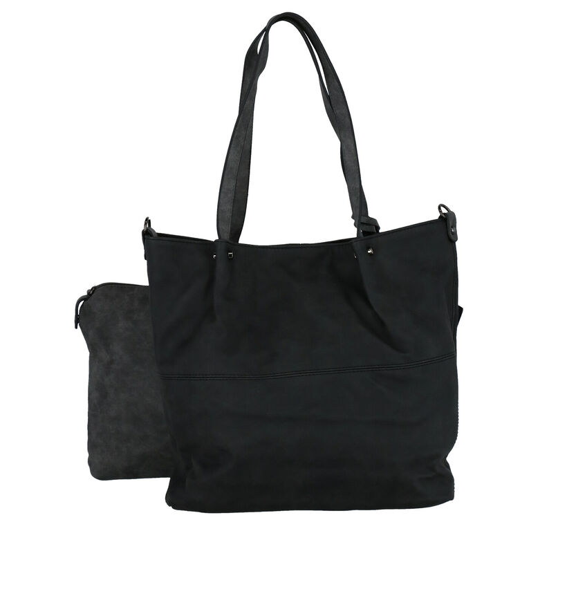 Emily & Noah Zwarte Bag in Bag Shopper Tas in kunstleer (284366)