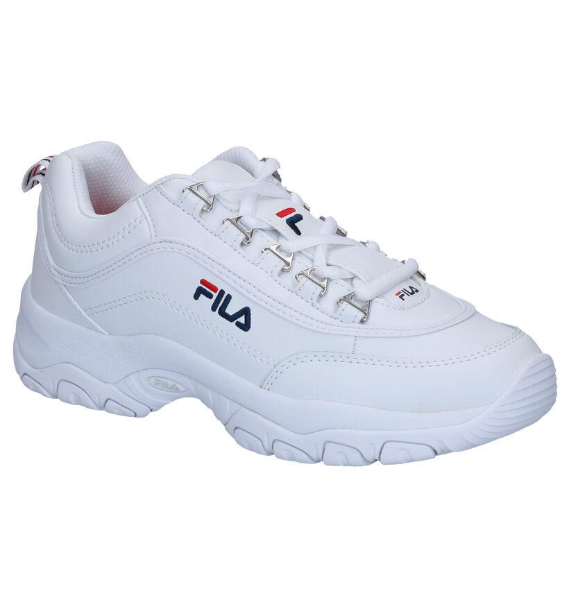 Fila Strada Low Witte Sneakers in leer (265577)