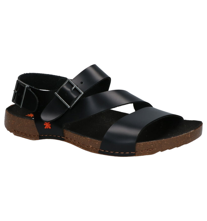 Art I Breathe Zwarte Sandalen in leer (270365)