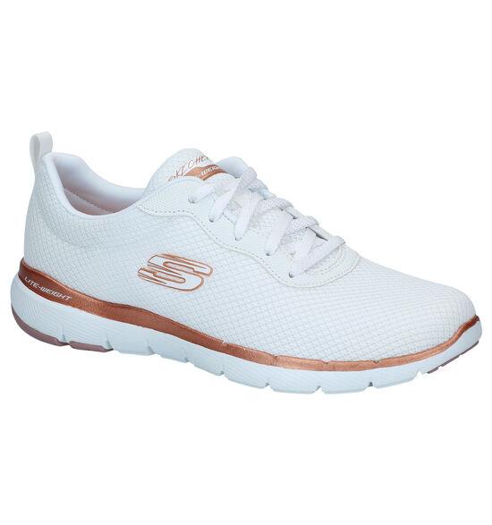 Skechers Flex Appeal Witte Sneakers