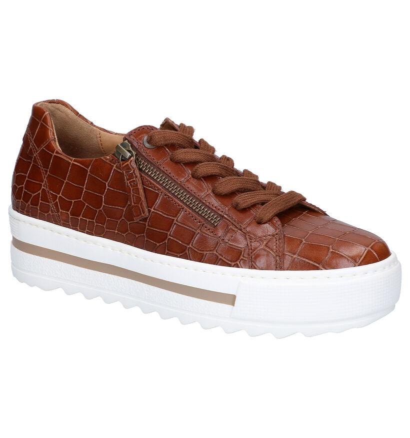 Gabor Optifit Chaussures à Lacets en Cognac en cuir (282456)