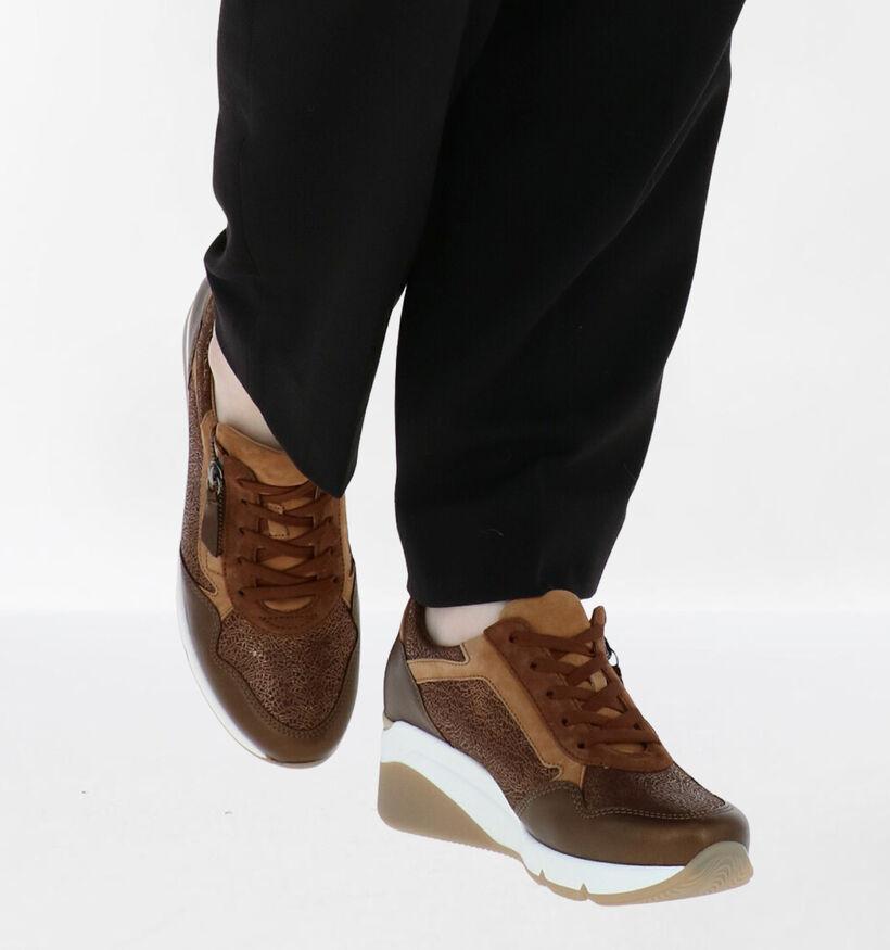 Gabor OptiFit Chaussures à Lacets en Marron en cuir (282320)