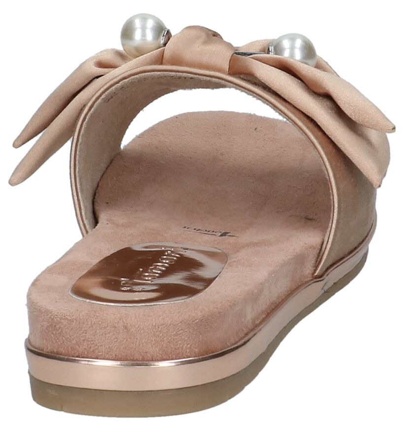 Tamaris Nu-pieds plates en Rose en textile (214270)