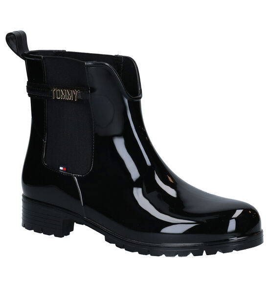Tommy Hilfiger Zwarte Regenlaarzen