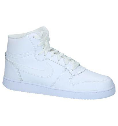 Zwart/Rode Sneakers Nike Ebernon Mid in kunstleer (234946)