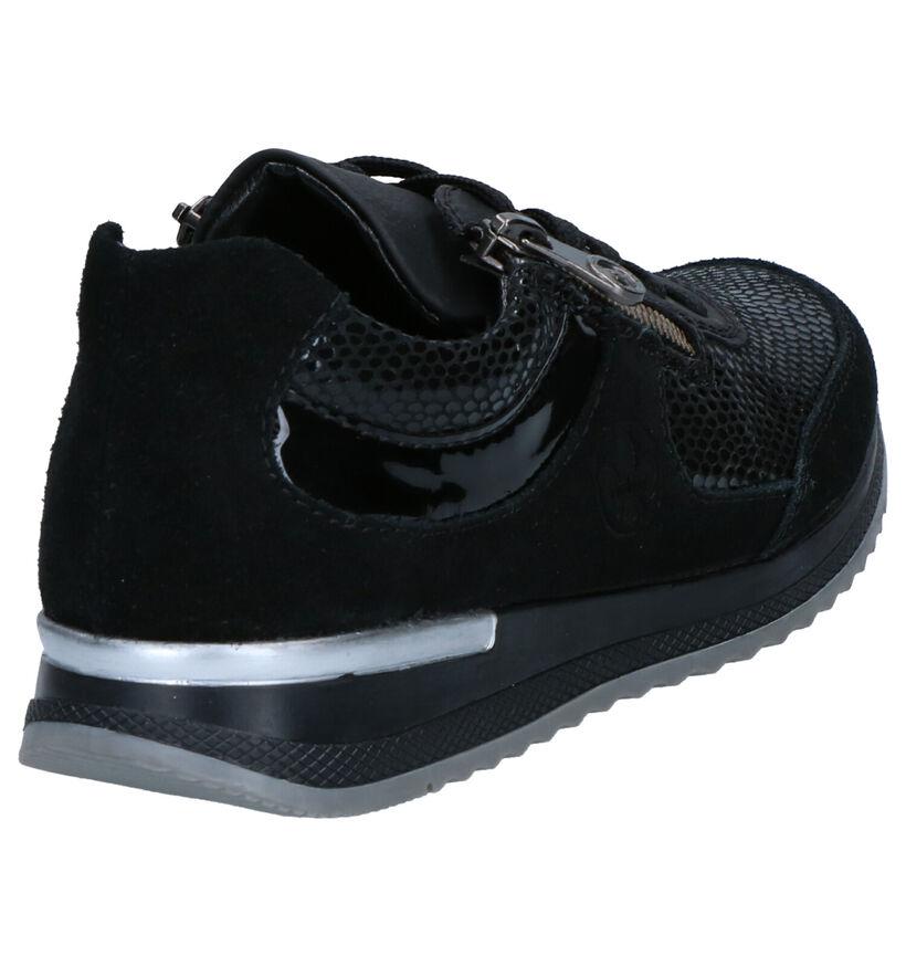 Rieker Chaussures à lacets en Noir en cuir (277632)