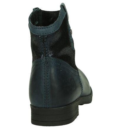 Donkerblauwe Boots Ghost Rockers in leer (181387)