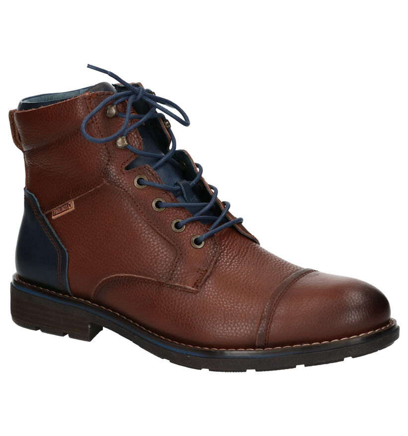 Pikolinos York Bruine Boots in leer (261420)