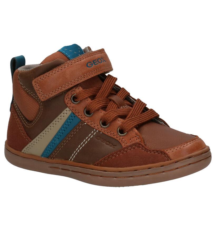 Geox Chaussures hautes en Cognac en cuir (254528)