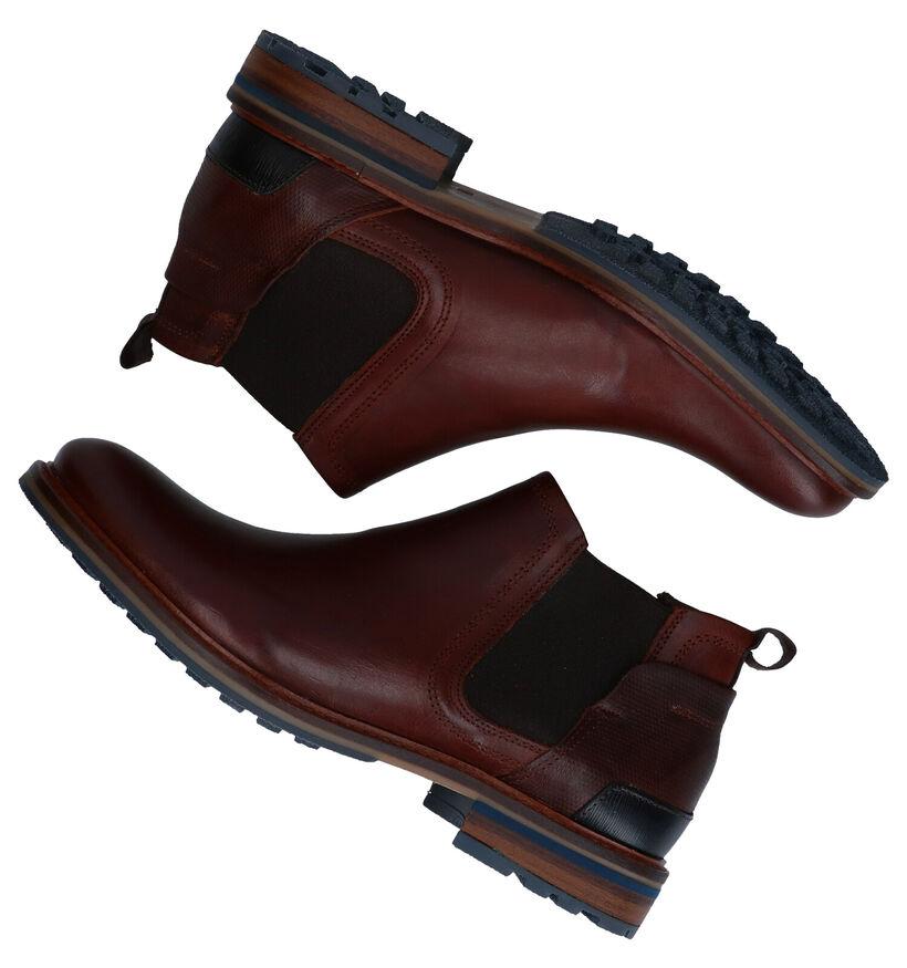 Bullboxer Cognac Cheslea Boots in leer (276987)