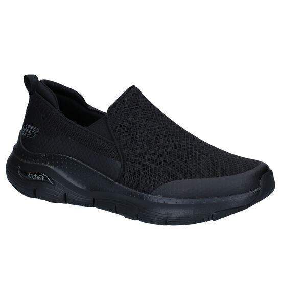 Skechers Arch Fit Zwarte Slip-on Sneakers