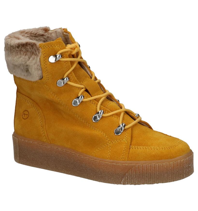 Tamaris Gele Boots in daim (261555)