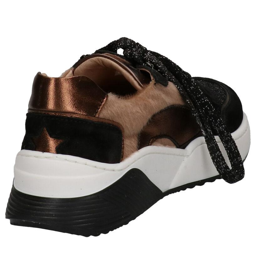 Bana & Co Baskets basses en Noir en cuir (256847)