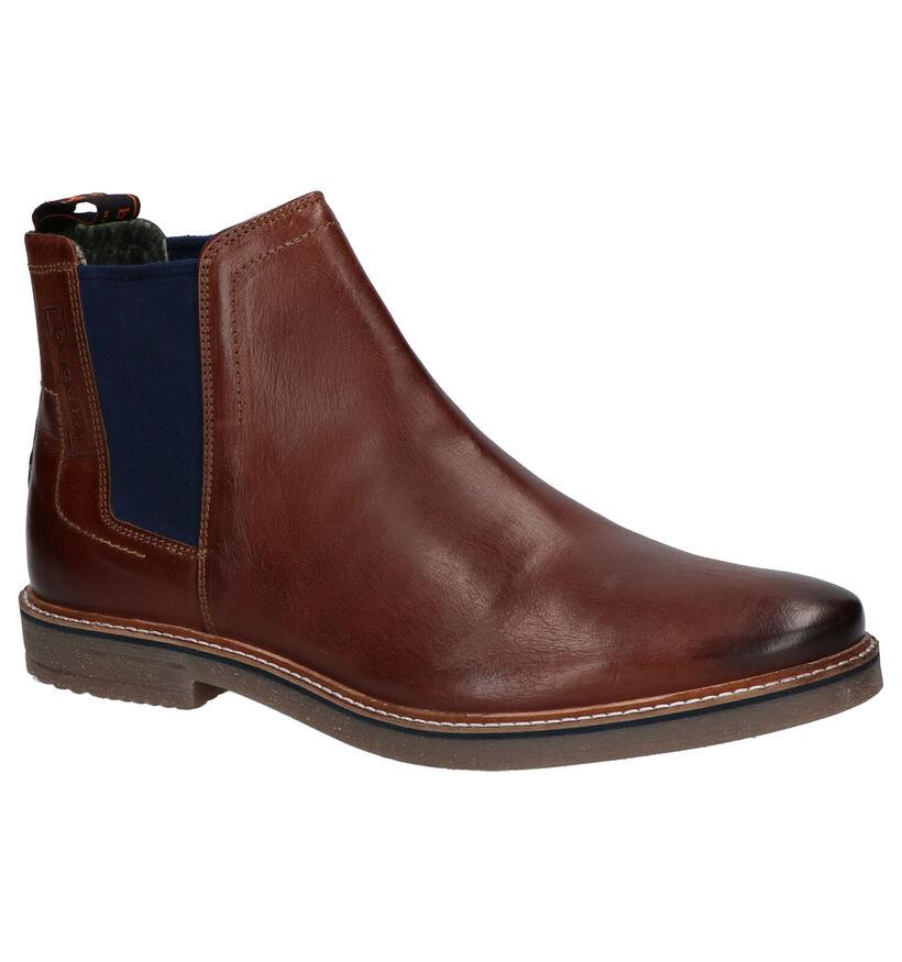 Bugatti Cognac Chelsea Boots in leer (255353)