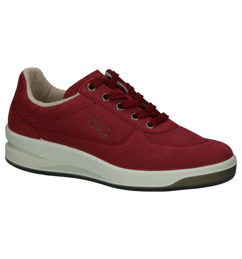 tbs Chaussures à lacets en Bordeaux en nubuck (236051)