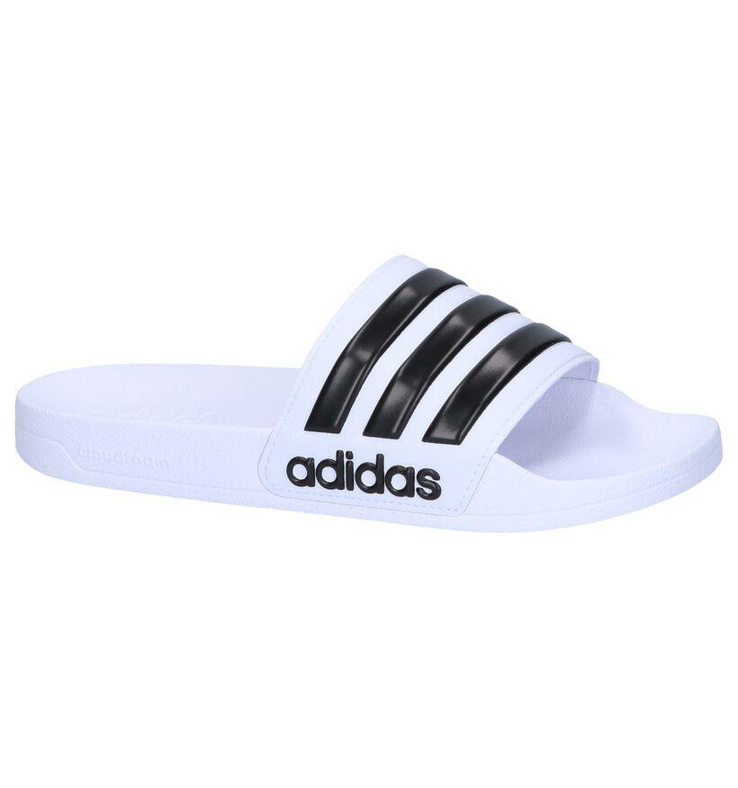 adidas Adilette Nu-pieds en Blanc en synthétique (264990)