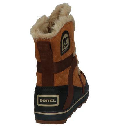 Cognac Snowboots Sorel Glacy Explorer Shortie, Cognac, pdp