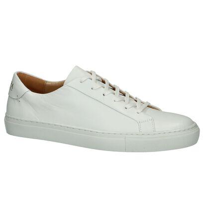 Witte Lage Sneaker Scapa in leer (246080)