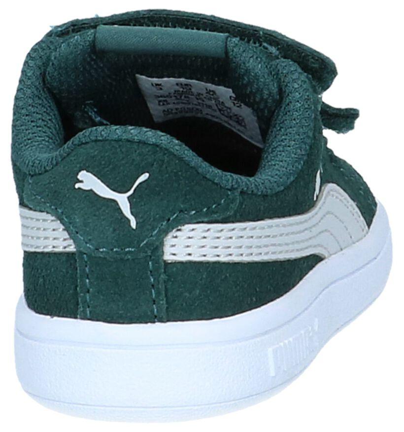 Puma Smash Blauwe Sneakers in daim (265625)
