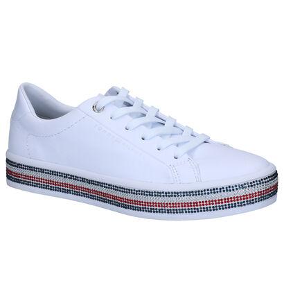 Tommy Hilfiger Jeweled Witte Sneakers in kunstleer (264947)