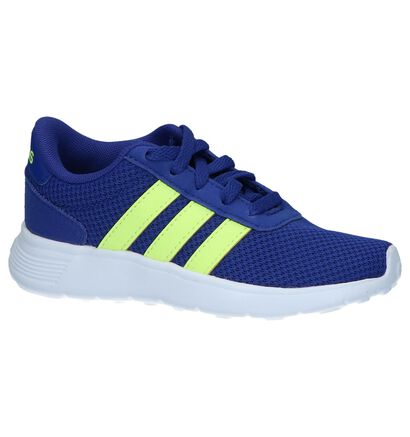 adidas Lite Racer Baskets basses en Bleu en textile (237139)