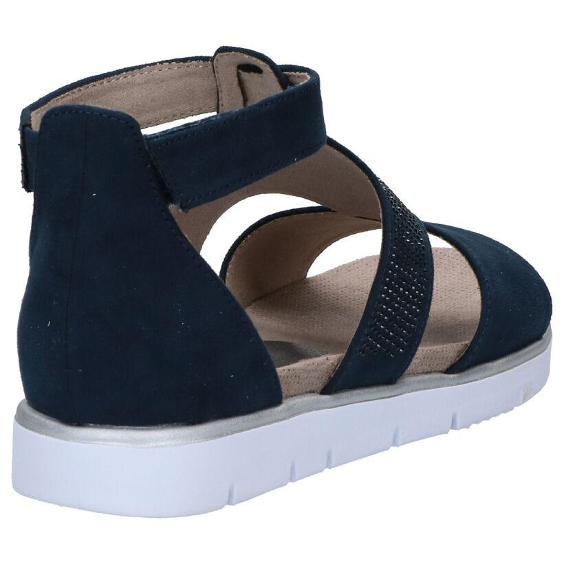 Jana SoftFlex Sandales en Bleu en textile (270842)