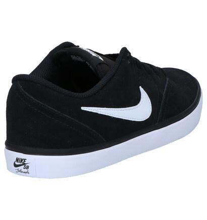 Zwarte Skateschoenen Nike SB Check Solar in daim (250315)