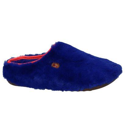Camper Blauwe Pantoffels in faux fur (234417)