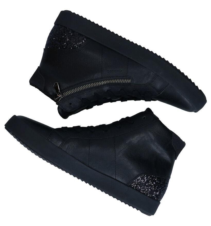Geox Baskets Haute en Noir en simili cuir (277062)