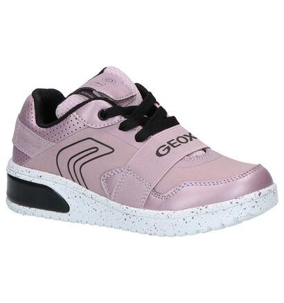 Geox Zwarte Sneakers in imitatieleer (254483)