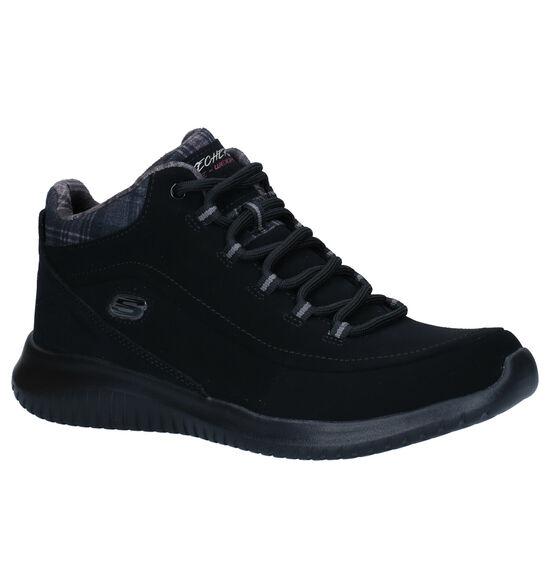 Skechers Ultra Flex Zwarte Hoge Sneakers