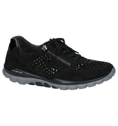 Gabor Chaussures à lacets en Noir en daim (222767)