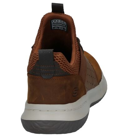 Skechers Delson Axton Bruine Sneakers in kunstleer (256212)