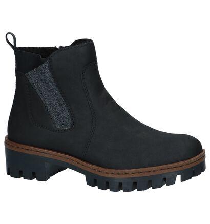Zwarte Chelsea Boots Rieker , Zwart, pdp