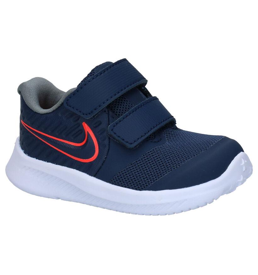 Nike Star Runner 2 TD Blauwe Sneakers in kunststof (277525)