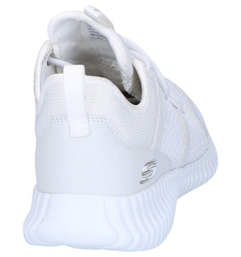 Witte Runner Skechers in stof (247394)