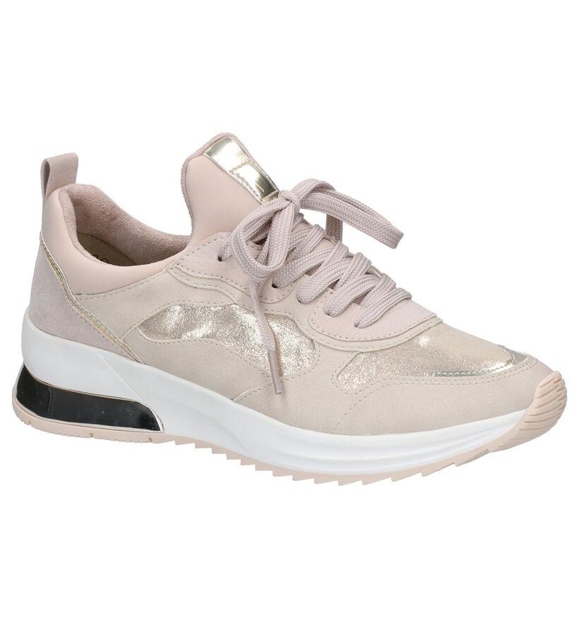 Tamaris Chaussures à lacets en Beige en simili cuir (269802)