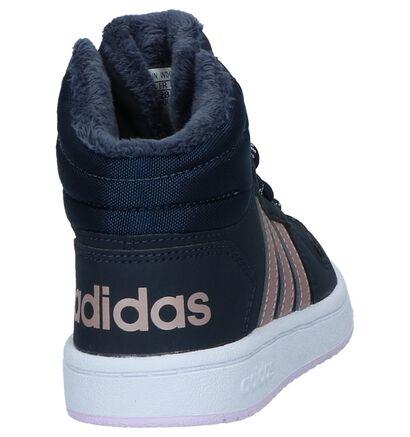 adidas Hoops 2.0 Baskets en Bleu en imitation cuir (221800)
