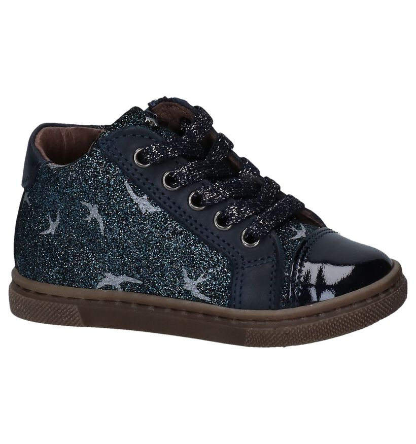 STONES and BONES Chaussures hautes en Bleu foncé en nubuck (255490)